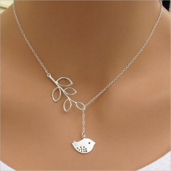 837bd628b Jewelry   Silver Love Bird Olive Branch Necklace Free Gift   Poshmark